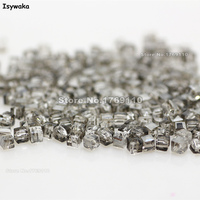 Isywaka 1980pcs Cube 2mm Gray Color Square Austria Crystal Bead Glass Beads Loose Spacer Bead For