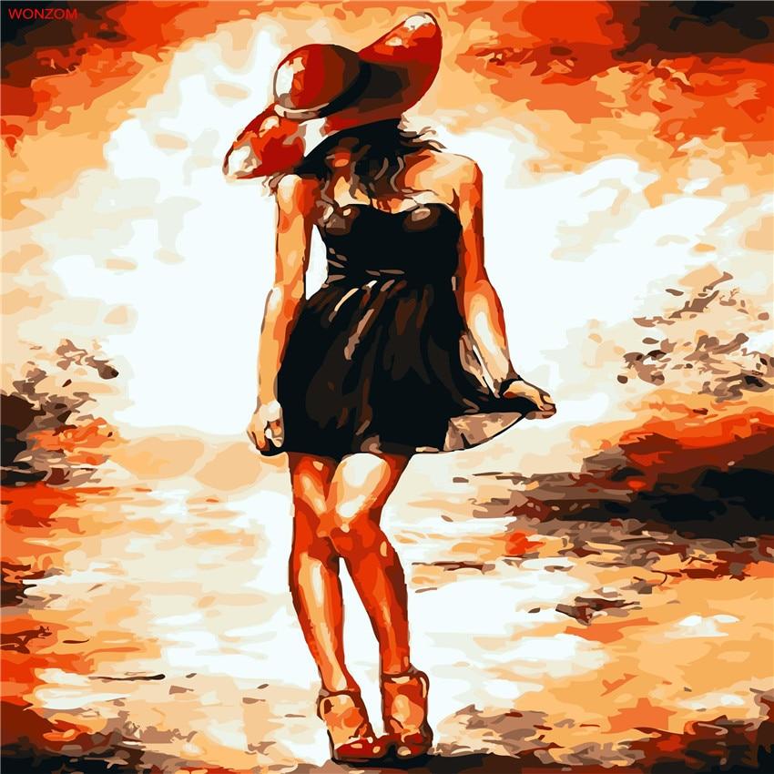 Nueva imagen de Sexy Girl en la pared pintura acrílica por números - Decoración del hogar - foto 1