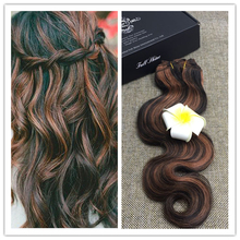 Full Shine 7Pcs/Set Full Head Clip Hair Extensions Balayage Brazilian Body Wave Clip Ins Extensions 100 Human Hair Color 1B/30