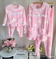 Family Matching Clothes Father Mother And Son Daughter Pajamas Printed Thick Autumn Winter Clothing Set Sleepwear
