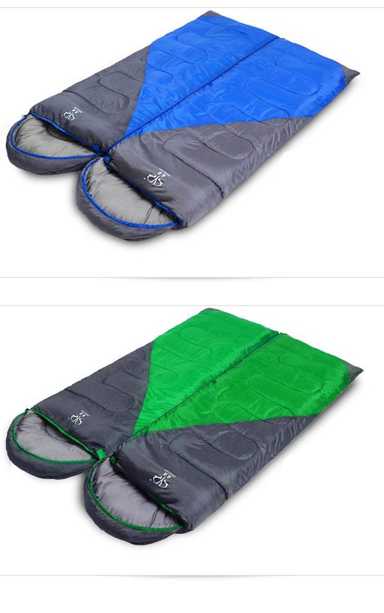 acampamento por atacado personalizado inverno algodão viagem saco de dormir