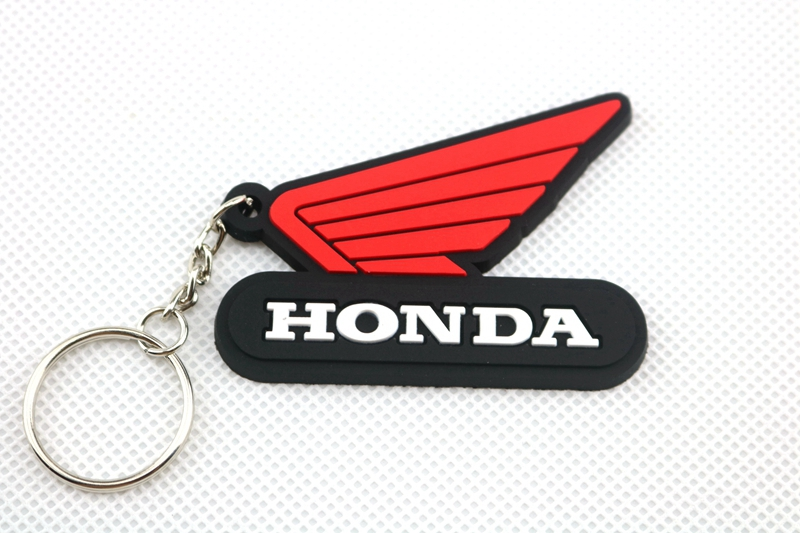 3D Motorcycle Accessories Motorcycle KeyChain Rubber Motorcycle Key Chain For HONDA Locomoti model rubing matching motorcycle accessories gn250 did9 timing chain in pieces