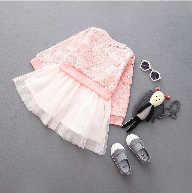 283d76819 New Girls clothes 2017 autumn winter lace girl dress long sleeve ...