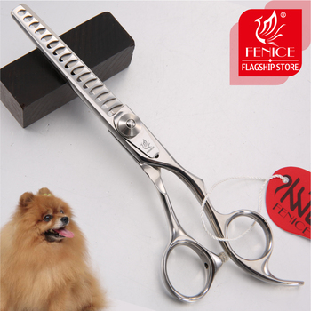 Fenice Professional Japan 440c 6.0 inch pet dog grooming thinning scissors toothed blade shears thinning rate about 70% fenice jp440c 7 inch 8 inch high end pet dog grooming scissors thinning shears thinning rate about 80