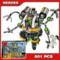501pcs Super Heroes Spider Man Doc Ock's Tentacle Trap 07040 Model Building Blocks Bricks Kit Compatible with Lego