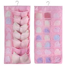 Oxford Hanging Storage Bag Wall Mounted Wardrobe Hang Organizer Clothing Underwear Cosmetics Toys