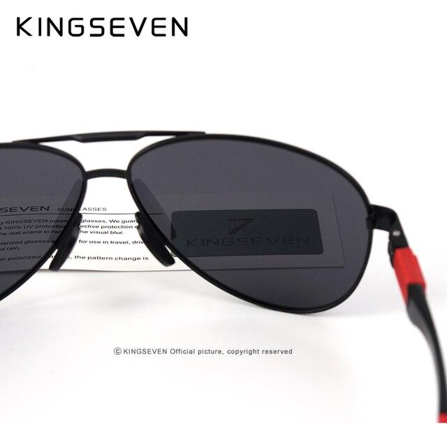 KINGSEVEN Metal Polarized Sunglasses Driving Men Women Brand Designer Glasses Fashion Eyewear 100% UV Protection  3