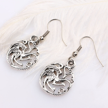 купить Game of Thrones Song of Ice and Fire Round Dragon Earrings for Women по цене 73.26 рублей
