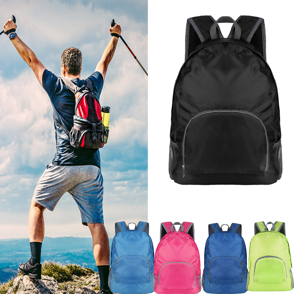 Nylon Backpack Satchel-Bag Schoolbags Rucksack Men Travel Candy-Color Outdoor Unisex