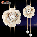 DuoTang Vintage Elegant Gold Plated Metal Pendant Necklace Fashion Resin Pearl Flowers Necklaces For Woman Jewelry Party Gift