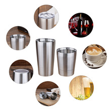 2019 NEW Bpa-free double wall 304 Stainless steel travel tea coffee milk mug family dance party beer cup sports my water bottle цена