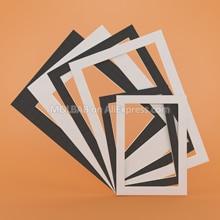 White/Black Photo Mats Rectangle A3/A4/A5 PaperBoard Mounts Textured Surface For Picture Frames Passe-Partouts Decor 12PCS/Lot