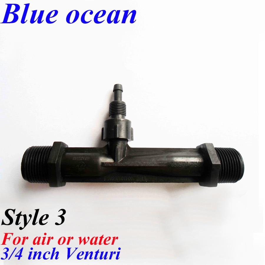 BO-0075V, 1/4 1/2 3/4 inch 1 1.5 2 inch venturi built-in non-return valve jet PVDF material gas-liquid mixer 1 4
