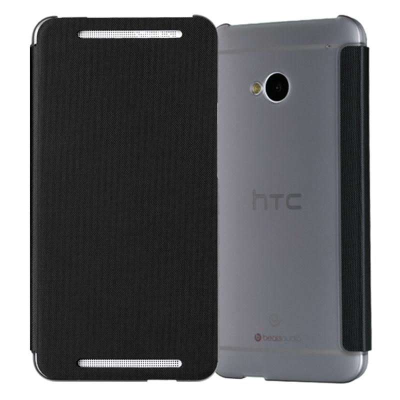 imágenes para Para htc one m7 case, nuevo 2015 case cubierta del teléfono celular de moda de lujo del cuero genuino para htc m7 802 w