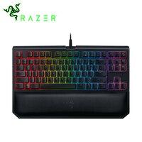 Razer BlackWidow турнирный выпуск Chroma V2 Механическая игровая клавиатура 87 Ключи RGB тактильные Clicky зеленый коммутаторы клавиатура