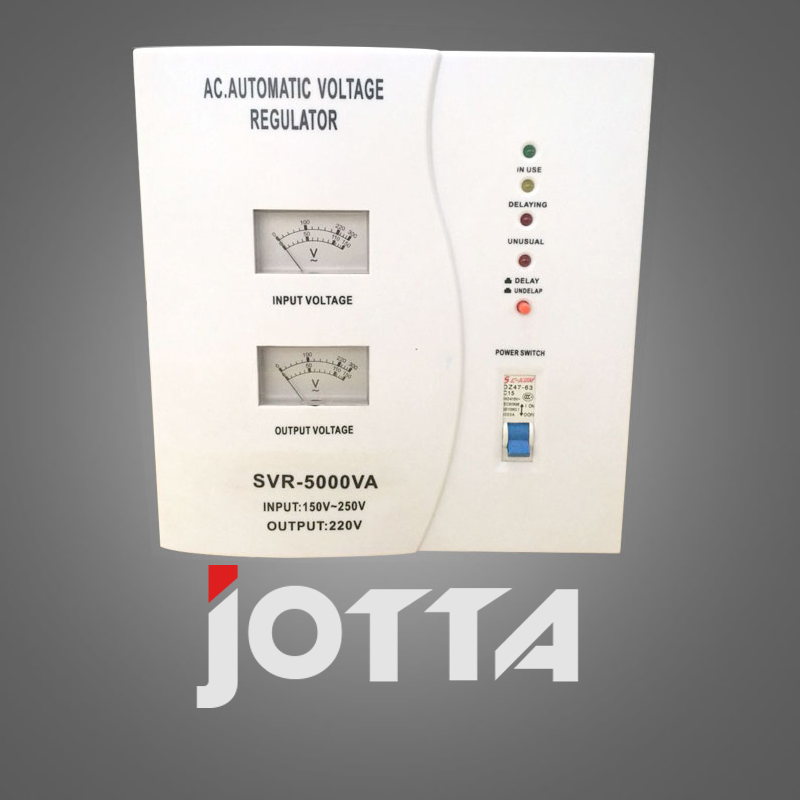 SVR-5kVA Single-phase high accuracy full automatic ac Relay type voltage stabilizer normally open single phase solid state relay ssr mgr 1 d48120 120a control dc ac 24 480v
