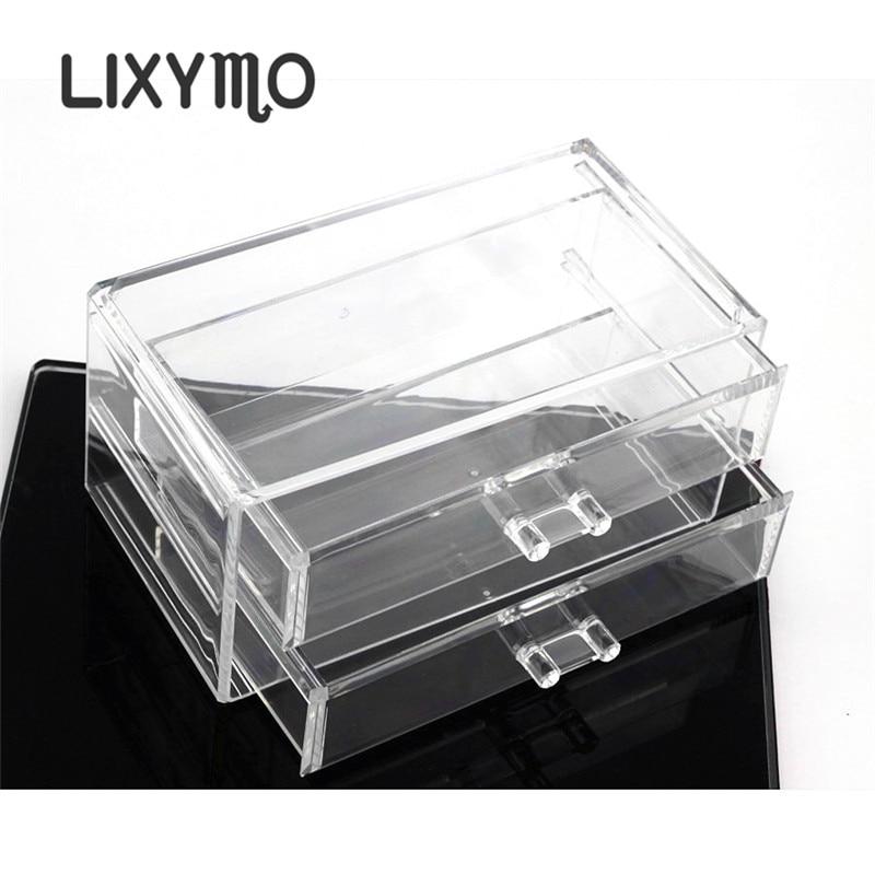 LIXYMO Kosmetik Make Up schmuck 2 schubladen Veranstalter Lagerung ...