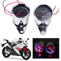 LED 13000 RPM Tachometer + Dual Speedometer Odometer Gauge Meter fit for Motorcycle For Honda Yamaha Kawasaki Suzuki Choppers