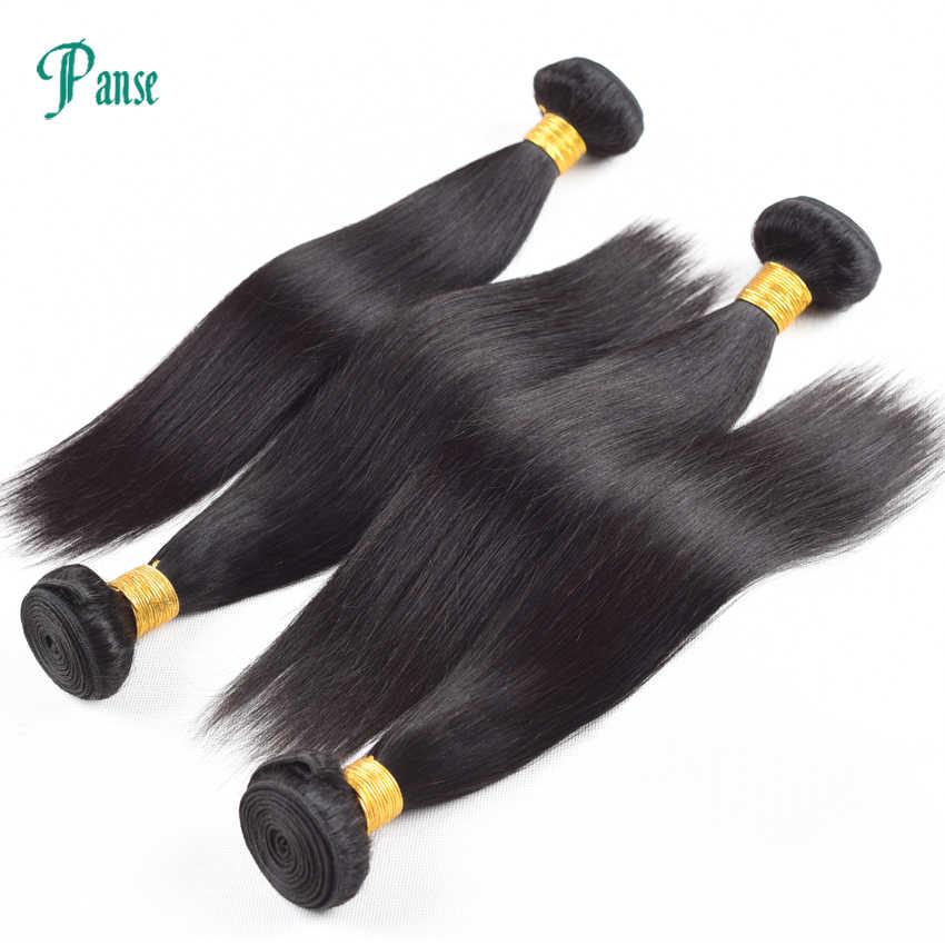 Panse Haar 3 Bundels Per Lot Niet Remy Indian Hair Straight Weven Dubbele Inslag Natuurlijke Zwarte Haarverlenging