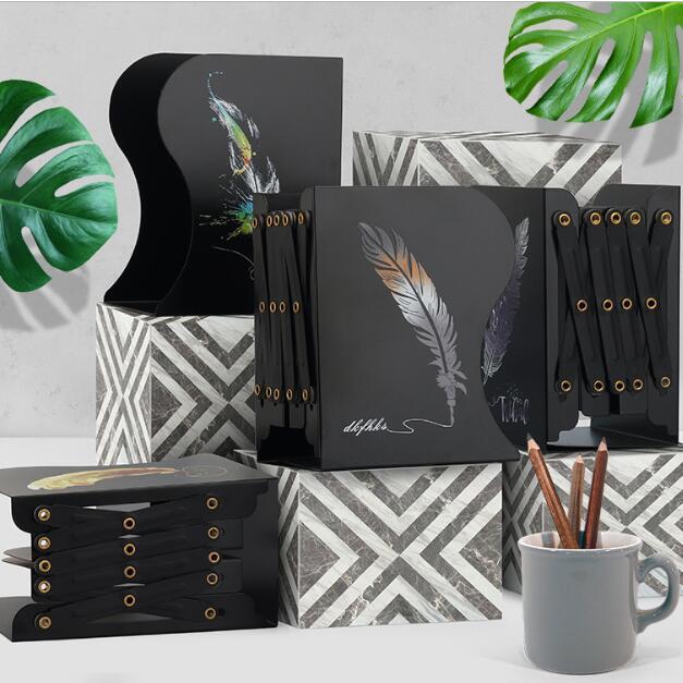 Unicorn Anime Metal Retractable Books Bookends Students Desk Organizer Holder Bookshelf Office School Home Book shelf Stationery