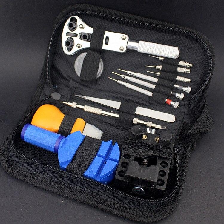 13 teile/satz Armbanduhr Reparatur Werkzeug Uhr DIY Kit Schraubendreher Opener Pinzette Fall Band Link-Remover Uhrmacher Gewidmet Gerät