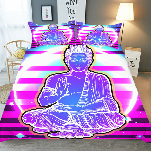 Bedding Set 3D Printed Duvet Cover Bed Set Yoga Seven Chakras Home Textiles for Adults Bedclothes with Pillowcase #YJ01