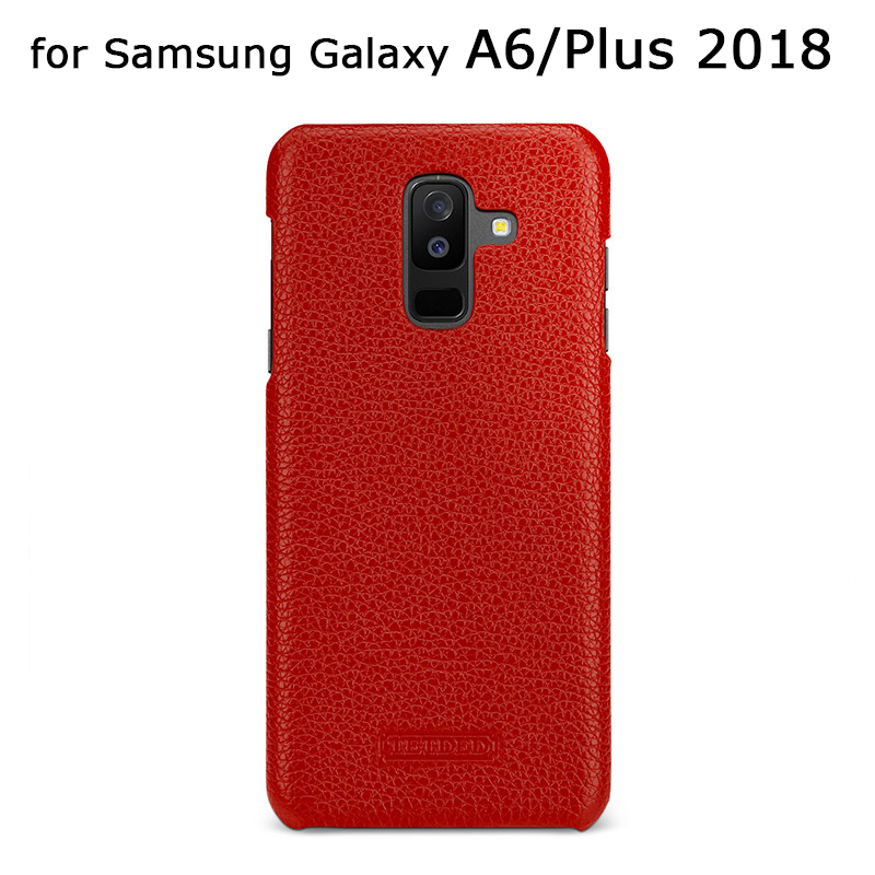Mince En Cuir Véritable étui pour samsung Galaxy A6/A6 Plus 2018 Version Haute Qualité coques de téléphone Housse Coque capa Sac De Mode