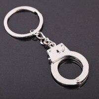 diy car Silver Color New Car Keyring Gift Key Chains Keychain Keyfob Keyring Handcuffs Mini size DIY Key Holder Jewelry Auto Accessories (1)