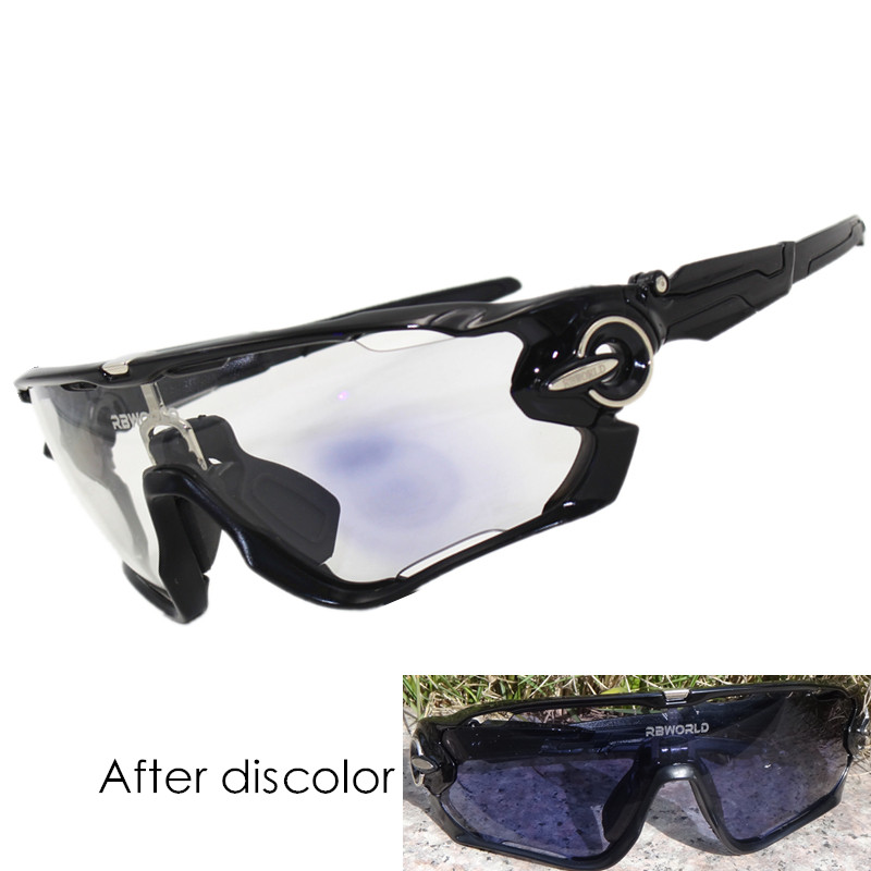 2 lens Photochromic Sunglasses Auto TR90 Sports Discoloration Glasses JBR Cycling SunGlasses MTB Mountain Bike Goggles Bicycle