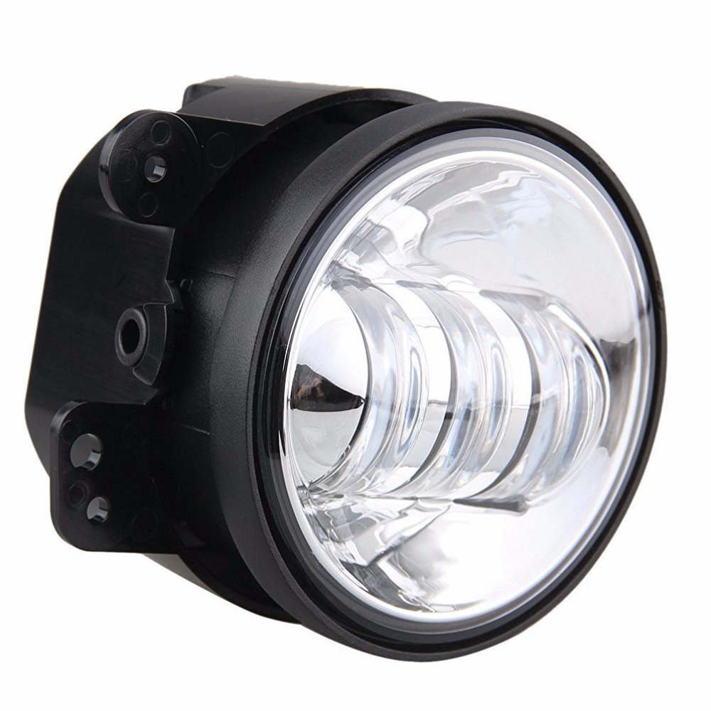 Image 5 - 2PCS 4Inch Round Led Fog Lights 30W 6000K White Halo Ring DRL Off Road Fog Lamps For Jeep Wrangler JK TJ LJ Grand Cherokee-in Car Light Assembly from Automobiles & Motorcycles