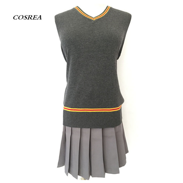 New Magic School Hermione granger waistcoat Cosplay Costume Women Girls Sweater Vest /Skirts  sc 1 st  AliExpress.com : womens hermione granger costume  - Germanpascual.Com