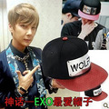 2016 men metal hiphop cap male black baseball cap brim straight snapback bone exo chapeau discount