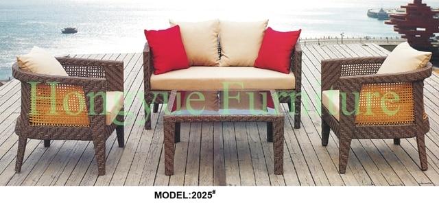 Muebles de ratán sofá patio conjunto con cojines y almohadas reino ...