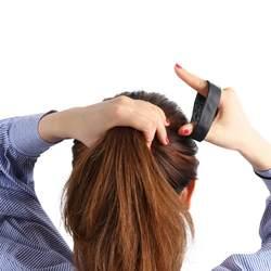 Для женщин укладки силиконовые волосы на кольцевом креплении отделка фиксированной волос женский уход фиксированной развивающие волосы