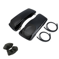 Motorcycle saddle bag For Touring CVO Style 5x7 Speaker Lids Road King Glide Electra Street Glide 1993 2013 1999 2010 2012 2000