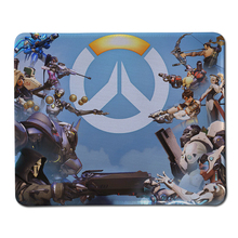 250*300*2mm Customized For Overwatch Gaming Mouse Pad Anti-Slip Locking Edge Laptop PC Mice Pad Rubber Optical Laser Mousemat