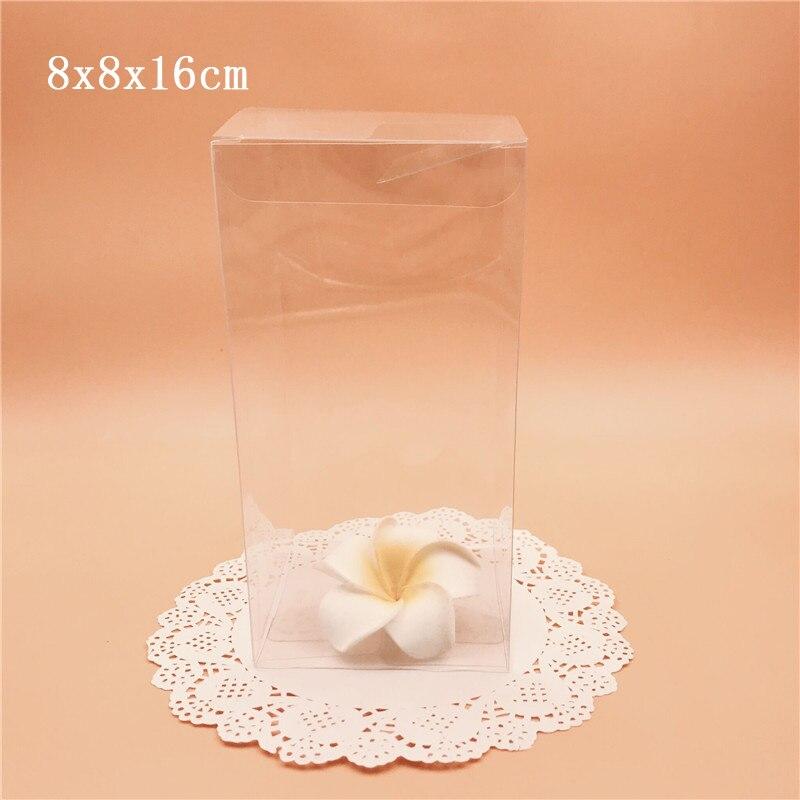 8*8*16 cm boîte en PVC clair Transparent boîtes de cadeau de mariage boîtes d'emballage en plastique bouteille cosmétique emballage cadeau électronique