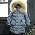 New  Long Brand  Kids Coats Girls Winter  Warmer Thickness Jacket Girls Child  Hooded Girls Winter Coat B513