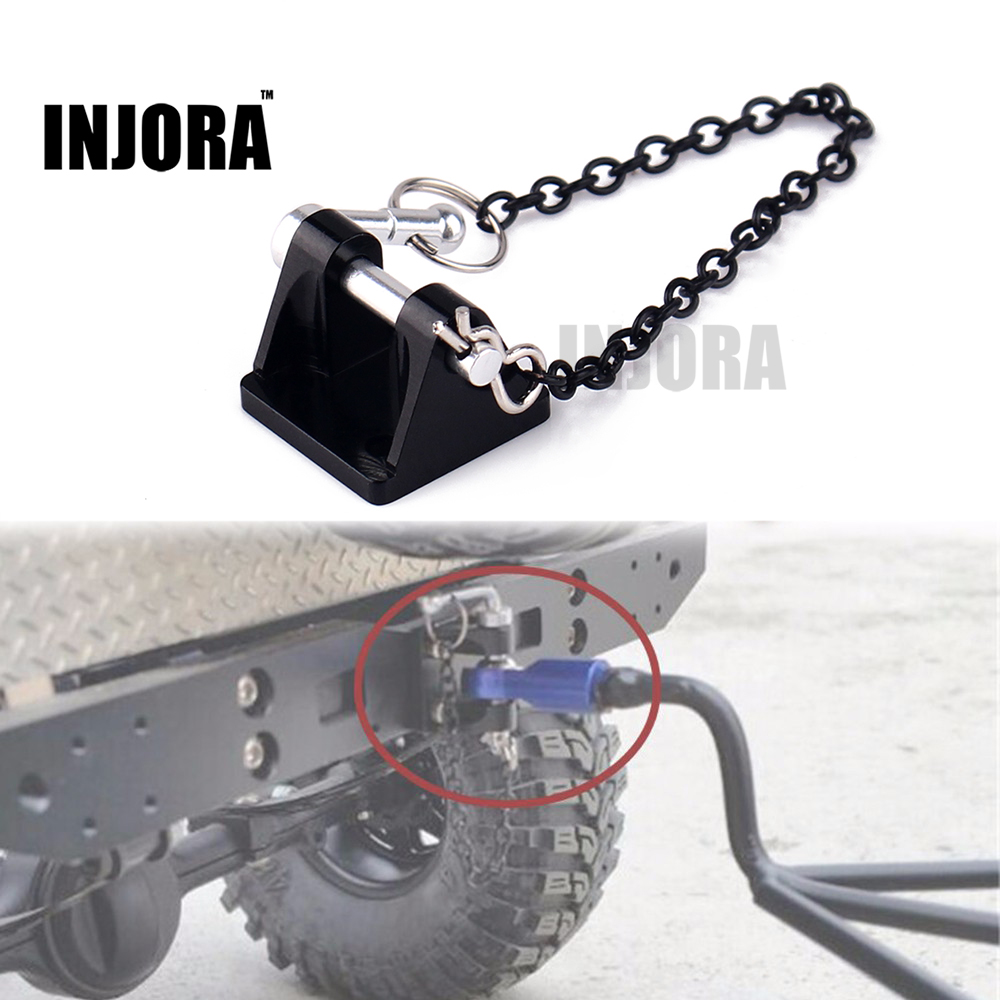 1:10 RC Rock Crawler Metal Drop Hitch Trailer Hook For Axial SCX10 90046 TRX-4 Crawler Truck