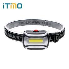 Mini 3 Modes Waterproof 400Lm LED Flashlight outdoors Headlight Headlamp head light lamp Torch Lanterna with Headband HA10654
