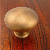 free shipping brass handle Cabinet drawer minimalist wardrobe cabinet door knob retro mushroom pull furniture hardware part
