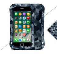 Love Mei Powerful CAMO SERIES small waist Case Cover for iPhone 7 7 Plus Waterproof Shockproof Aluminum case with Tempered Glass