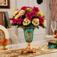 Ваза Современный минималистичный гостиная фарфоровая посуда украшения для домашней обстановки полка Цветочная композиция