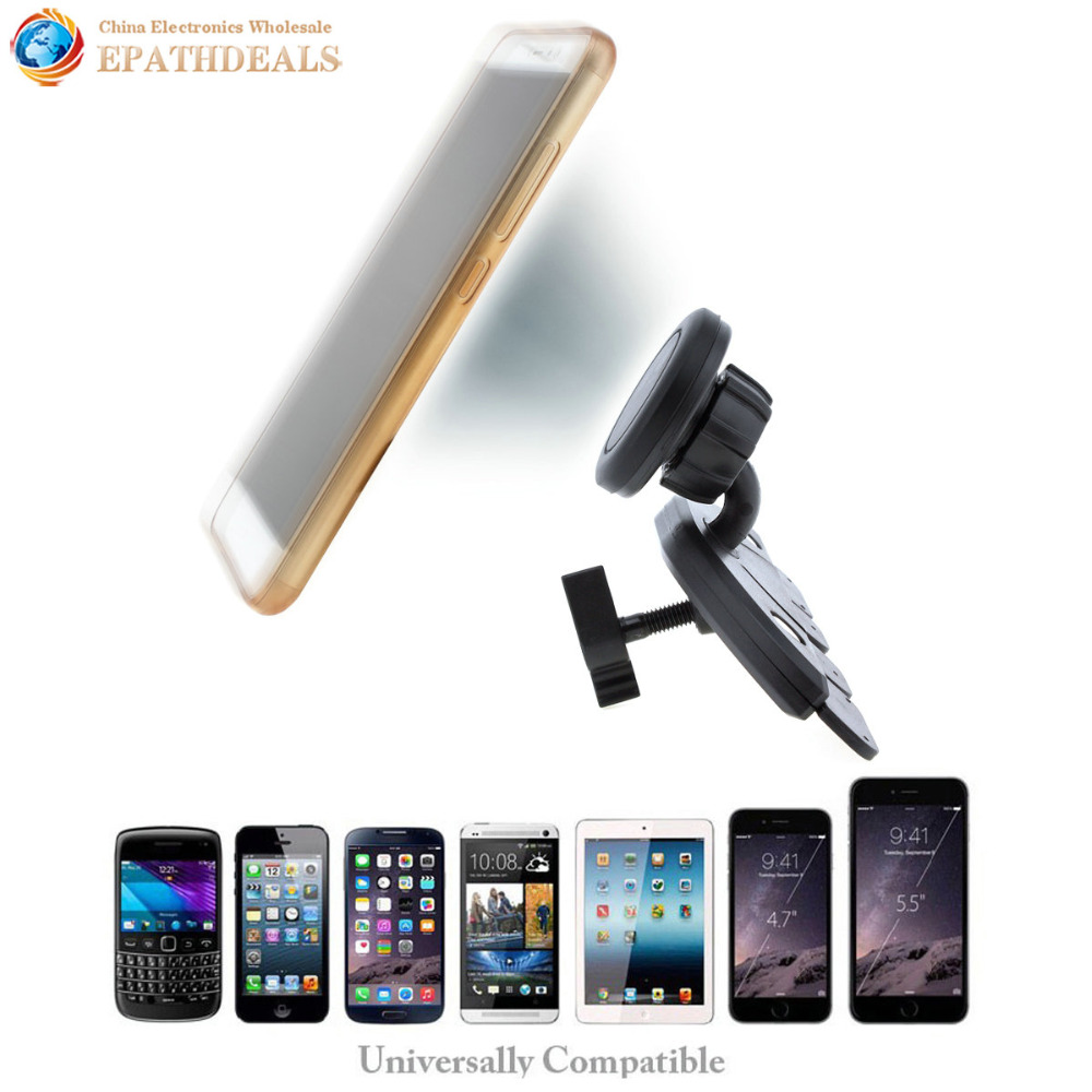 Universal Car Headrest Mount Magnet Holder For Phone Automobiles Fdt Motor Auto Cd Player Slot Magnetic Iphone Ipad Mini Air Tablet Gps