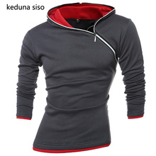 New Fashion Side Zipper Hoodie Men s Hooded pullover Sweatshirts Casual Assassin Creed Sleeve Hoodies Man