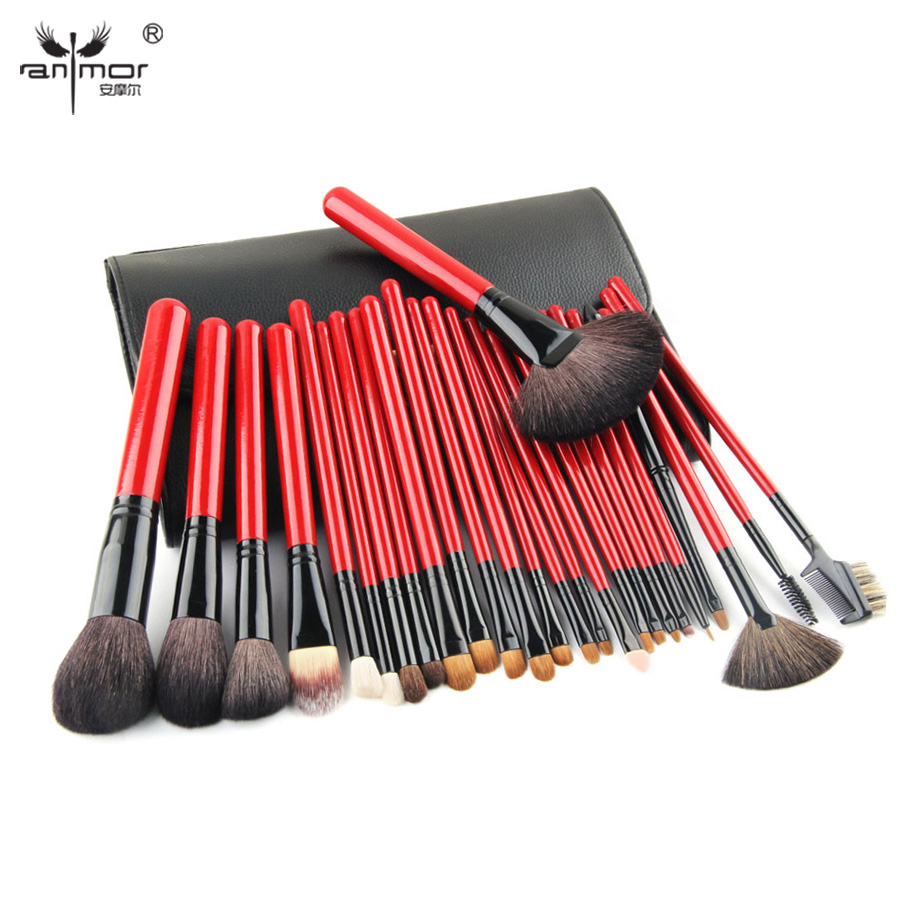 High Quality 26 Pcs Makeup Brushes Professional Makeup Brush Set Goat Hair Brushes For Make Up ...