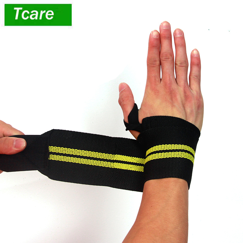 1Pcs Elastic Wrist Wraps - 18Inch/47cm for Fitness, Powerlifting, Bodybuilding, Weight Lifting,Cross-training Wrist Support