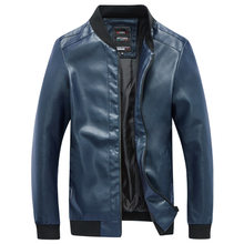2018 New Men's Leather Jackets Motorcycle PU Jacket Autumn Casual Leather Coats Slim Fit Mens Brand Clothing puls size 4xl 5xl(China)