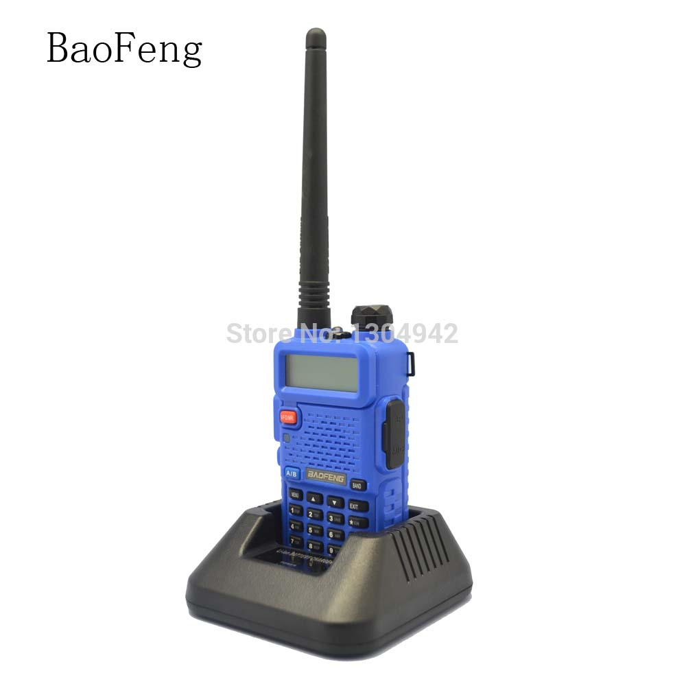 BAOFENG UV-5R Blue Walkie Talkie 136-174MHz&400-520 MHz Two Way Radio With Free Shipping Telecom Parts