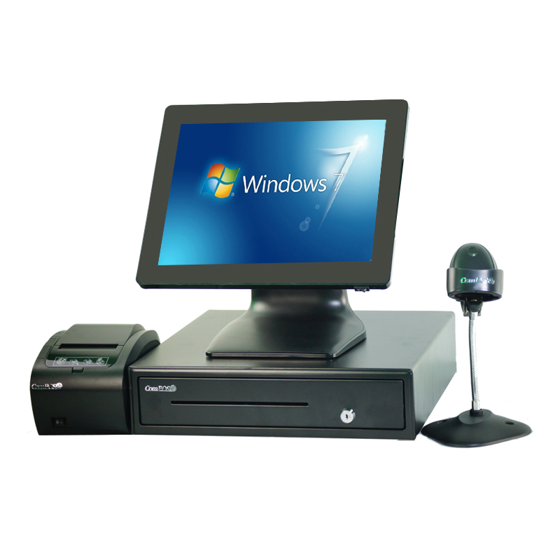 touch screen pos terminal 15 inch all in one touch pos system Hot selling cash register pc restaurant <font><b>cashier</b></font> <font><b>machine</b></font> image